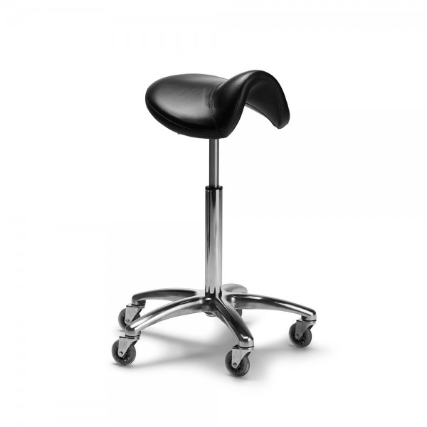 Salon stool saddle